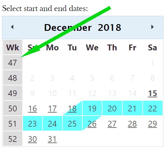 week in public calendar